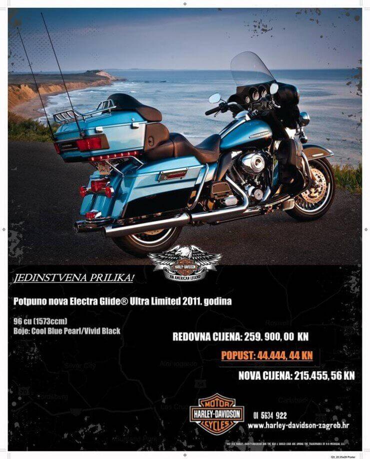 Jedinstvena prilika za kupnju modela H-D Electra Glide® 2011