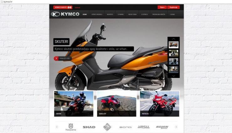 Nove stranice Kymco.hr